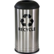 Stainless Steel 68.1l Recycle Receptacle - Black - Recycling