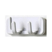 Spectrum Diversified 23300 Adhesive Double Hook, White