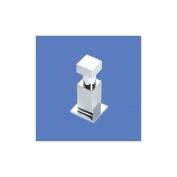 Use 1806.01 Square Bollard Single Hook - Polished Chrome