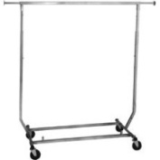Need A Rack Collapsible/folding Rolling Clothing/ Garment Rack Salesman's Rack