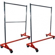 Metropolitan Display Single Bar Hang Rail Plus Double Bar Hang Rail Heavy Duty Rolling z Rack Garment Rack / Clothing Rack Combo