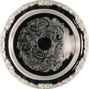 Elegance Romantica 38cm Round Silver Plated Tray