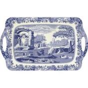 Pimpernel Blue Italian Melamine Tray 48cm x 29.5cm