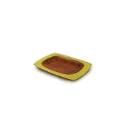 Enrico Products Avocado Mango Wood Honeycomb Serving Platter