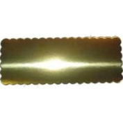 Gold Scalloped Cake Board (Thick) 16.5cm x 42.5cm 20 Per Pack
