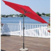 9' Outdoor Patio Market Umbrella with Hand Crank and Tilt - Red and