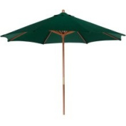 2.7m Outdoor Patio Market Umbrella - Hunter Green and Cherry Wood