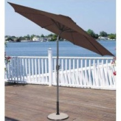 9' Outdoor Patio Market Umbrella with Hand Crank and Tilt - Brown and