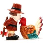 Pacific Trading Pilgrim Thanksgiving Turkey Magnetic Salt Pepper Shaker Set S/p