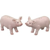 Down on The Farm Country Ham Pig Salt and Pepper S/P Set Andrea by Sadek