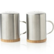 Natural Home Salt and Pepper Shakers with Handle