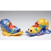 6cm Yellow, Blue and Red Lobster Shaped Salt and Pepper Shakers