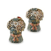 Quest Gifts and Design Inc. White Bouquet Salt and Pepper Shaker Set