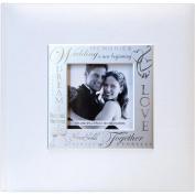Fabric Expressions Photo Album 22cm x 22cm 200 Pockets-Wedding - White