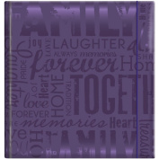 "MBI by MCS Industries ""Family"" Embossed Gloss Expressions 2-UP 200 Pocket Album, 10cm x 15cm , Deep Purple"