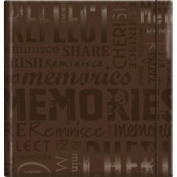 Embossed Gloss Expressions Photo Album 22.2cm x24.1cm  - Memories/Brown