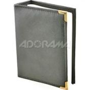 JAF Gifts 10.2cm x15.2cm 1-up 100 Photo Oxford Brass Corner Series - Grey