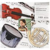 Sport & Hobby Post Bound Album 30cm x 30cm -Musical Instruments