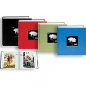 Pioneer Bi-Directional Cloth Frame Photo Album, Bright Cloth Covers, Holds 100 10.2cm x 15.2cm Photos, 1 Per Page, Colour