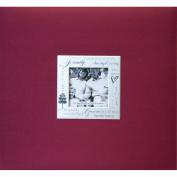 Expressions Postbound Album 8 Inch x 8 inch-family - Burgundy