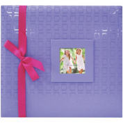 Embossed Postbound Album 30.5cm X30.5cm Purple