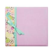 "Colorbok Postbound Album with Ribbon 12""X12"" Lavender Floral 43191"