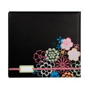 Colorbok Postbound 30cm x 30cm Album With Label Holder, Black Floral