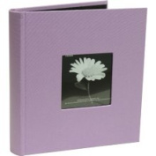Jam Paper Lilac Purple Fabric Covered Photo Albums - Holds Up to 200 Photos - Sold Individually