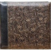 JAF Gifts 30.5cm X30.5cm Embossed Scroll Leatherette Scrapbook - Black Gold