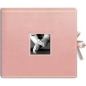 30.5cm X30.5cm Sewn 3-Ring Frame Scrapbook Box with Ribbon Closure - Baby Pin