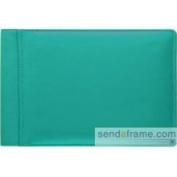 Raika RO 136 TURQUOISE 10cm x 15cm . Single Page Mini Photo Album - Turquoise