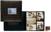 Raika Ni 113-D Brown Frame Front Scrap Book Album - Brown