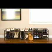 Seville Classics Mocha Utility Shoe Rack