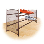 Lynk 146101DS Expandable-tackable Shoe Rack - Mesh Sided- Bronze
