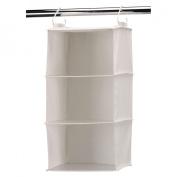 Household Essential 311342 Natural Blended Canvas 3-Shelf Organiser