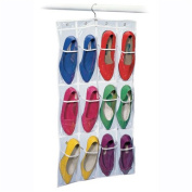 Richard's Homewares Clearly Visible 12 Pocket Shoe Caddy with Hanger