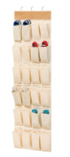 Honey-Can-Do Closet Organisation Over the Door 24-Pocket Shoe Organiser in Bamboo tan SFT-01002