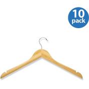 Honey Can Do HNGZ01531 10 Pack Wood Shirt Hanger- Bamboo