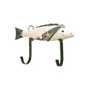 hs Wooden Fish Nautical Hanger
