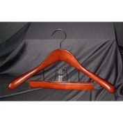 Proman TRF8839 Taurus Suit Hanger with Trouser Clamp Mahogany - 12 hangers