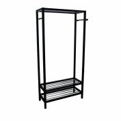 BELLACOR N3011-BLACK Black Hanger and Shoe Rack Stand