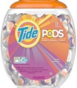 Tide PODS Laundry Detergent, Spring Meadow, 72 Ct, 1890ml
