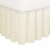 Fresh Ideas Eyelet 45.7cm Bed Skirt in White Size