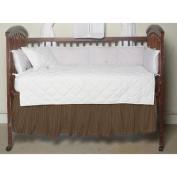 BELLACOR DRCW125B Dark Brown Plaid Fabric Dust Ruffle Crib
