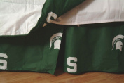 College Covers MSUDRTW Michigan State Printed Dust Ruffle Twin