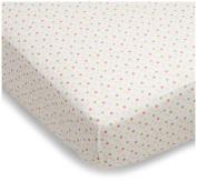 Sumersault Baa Baa Lamby Crib Sheet Pink
