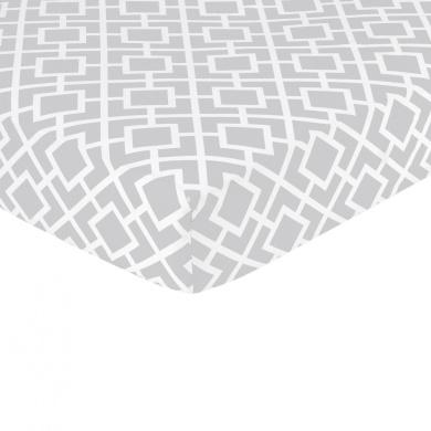 Sweet Jojo Designs Diamond Fitted Crib Sheet - Print