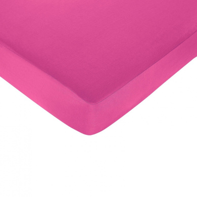 JoJo Designs Isabella Hot Pink Fitted Crib Sheet in Black / White