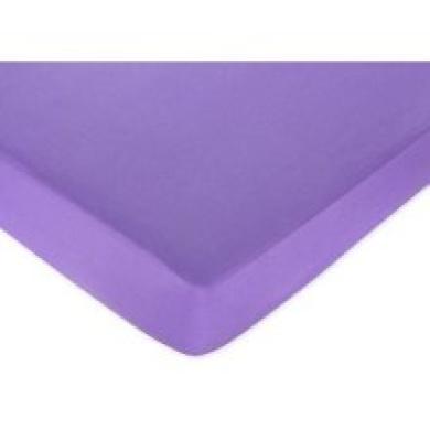 Danielle's Daisies Fitted Sheet - Dark Purple