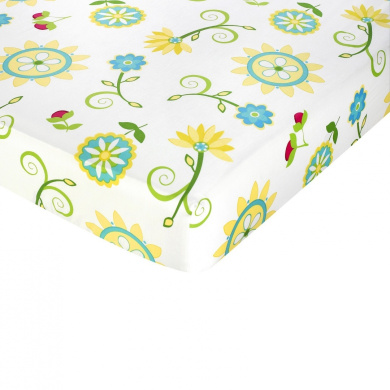 JoJo Designs Layla Fitted Floral Print Crib Sheet